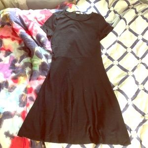 Gap Short Sleeve Simple Black Dress